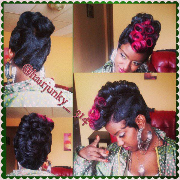 Finger Waves Short Black Women Haircut