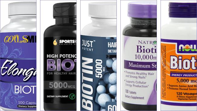 Mix and match biotin bottles