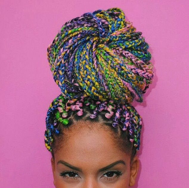15 Women With Braid Extensions Styles Who Are Not Afraid Of A Little ...