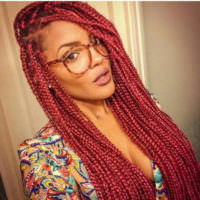 15 Women with Braid Extensions Styles Who Are Not Afraid of a Little Vibrant Color [Gallery]