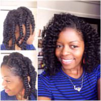 Flat twist 2 Strand Twist Out – @MissT1806