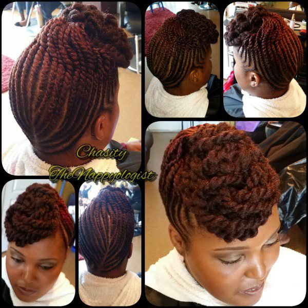 Signature Twist Updo With Marley Hair By Nappyology101llc Black