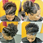 All Natural, hand curled NO WEAVE NO RELAXER! 3-D braid pin up IG @hairprincessd