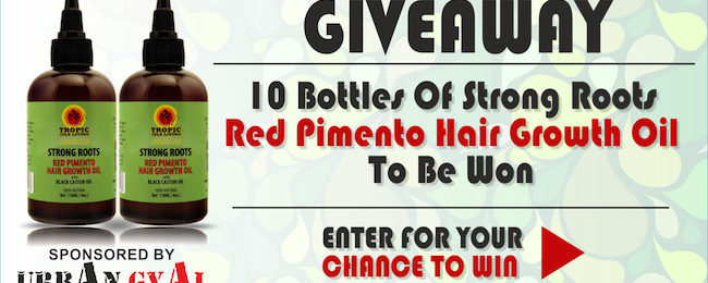 Giveaway Time! – Enter To Win One Of 10 Strong Roots Red Pimento Hair Growth Oils [Sponsored By Urban Gyal]