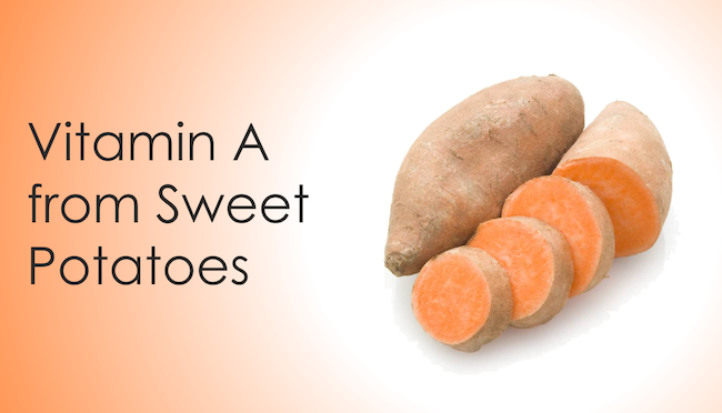 Vitamin A from sweet potatoes