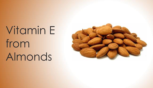 Vitamin E from almonds