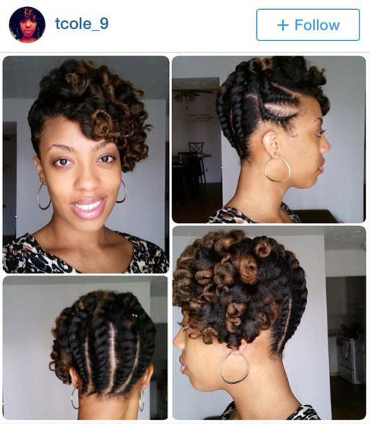 Simple Twist Styles For Natural Hair : Simple protective updo black hair information