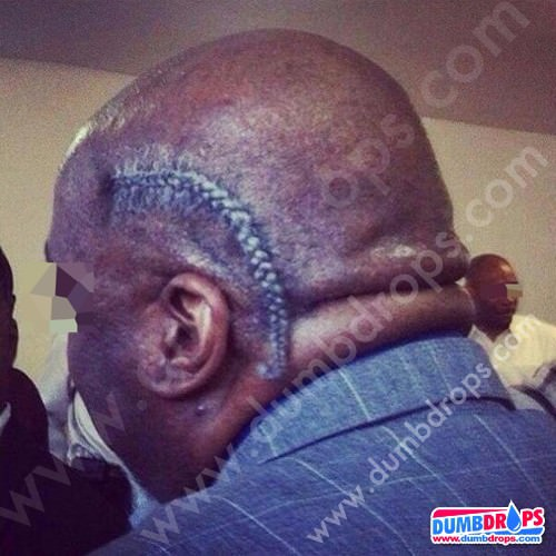 Bald head one cornrow