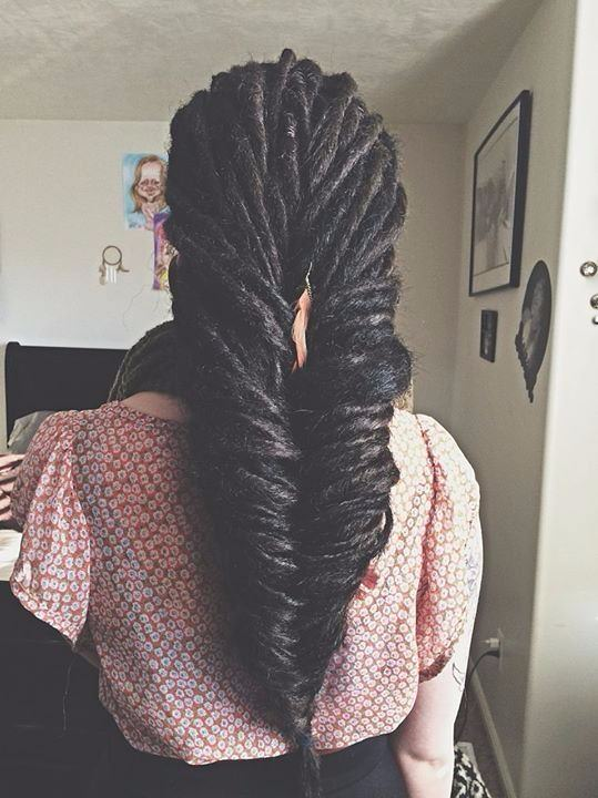 fish tail braid locs