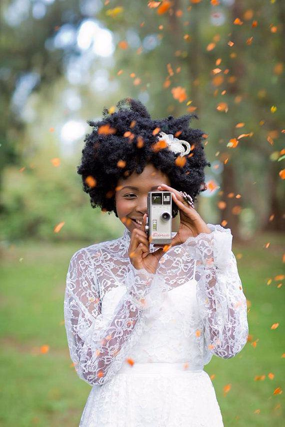 natural hair brides 17