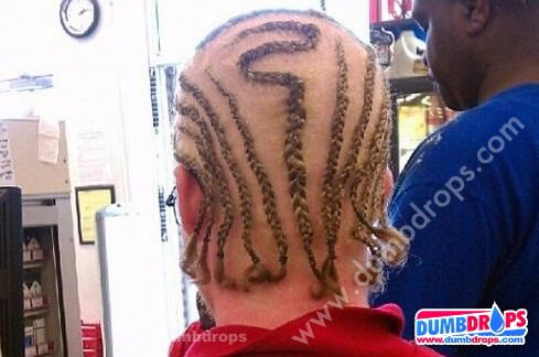 white guy cornrows