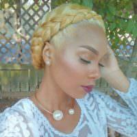 Blonde Crown Braid