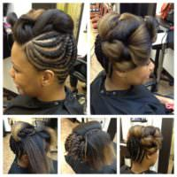 Flat Twists & Tuck And Roll Updo @nappyrepublic