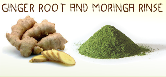 Ginger Root and Moringa rinse