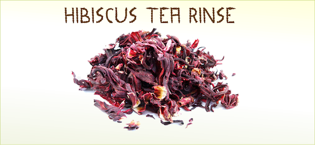 Hibiscus Tea rinse