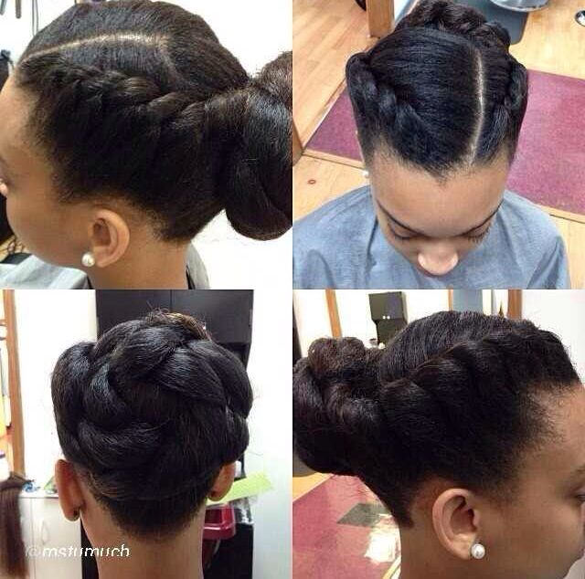 Jumbo flat twist up do