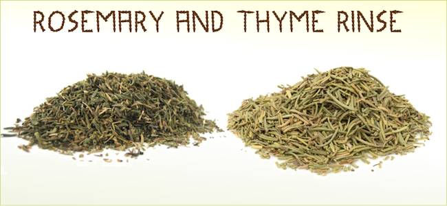 Rosemary and Thyme Rinse