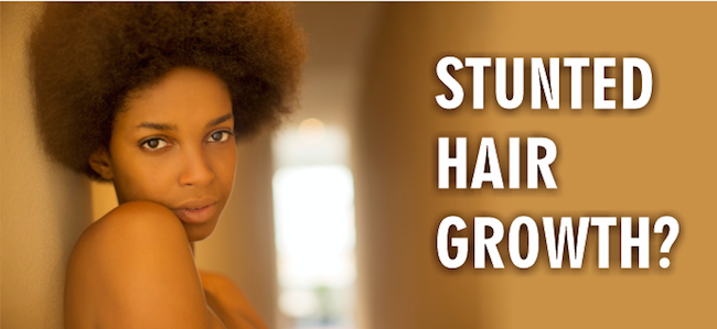 Stunted hair growth - Woman with afro natural hair