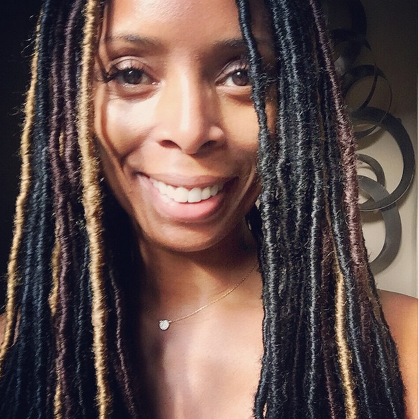 Tasha Smith Slaying Some Faux Locs 2