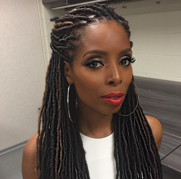 Tasha Smith Slaying Some Faux Locs 3