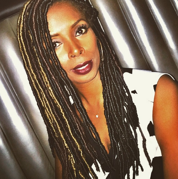 Tasha Smith Slaying Some Faux Locs