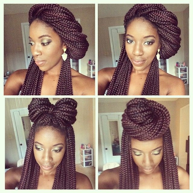 Hairstyle Box : 13 Box Braid Updo Styles You Can Try After Your Next Install [Gallery]