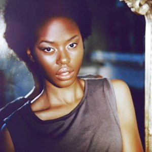 woman with dark skin