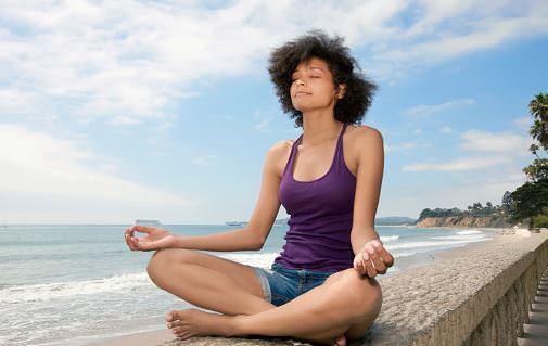 woman with zen