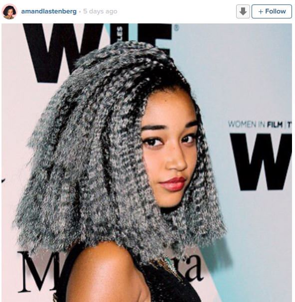 ... Stenberg Turns Her Grey Box Braids Into a Box Braid, ?Braid Out