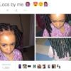 Child with faux locs