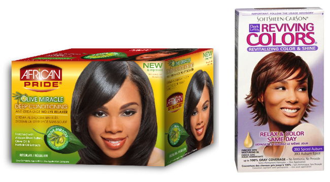 Relaxer and hair color