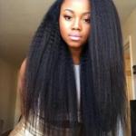 Kinky straight weave is so beautiful!