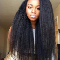 Kinky straight weave is so beautiful!