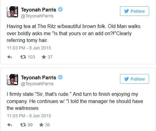 Teyonah Parris Tweets