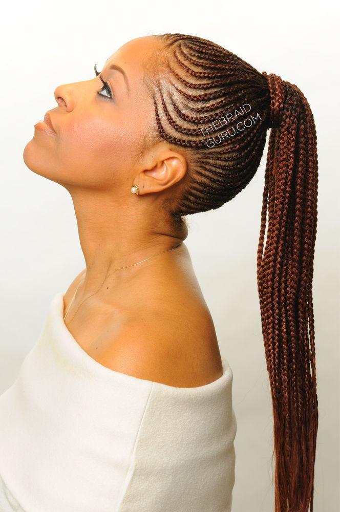 Stupendous 16 Feed In Cornrow And Cornrow Braid Styles We Are Loving Gallery Short Hairstyles Gunalazisus