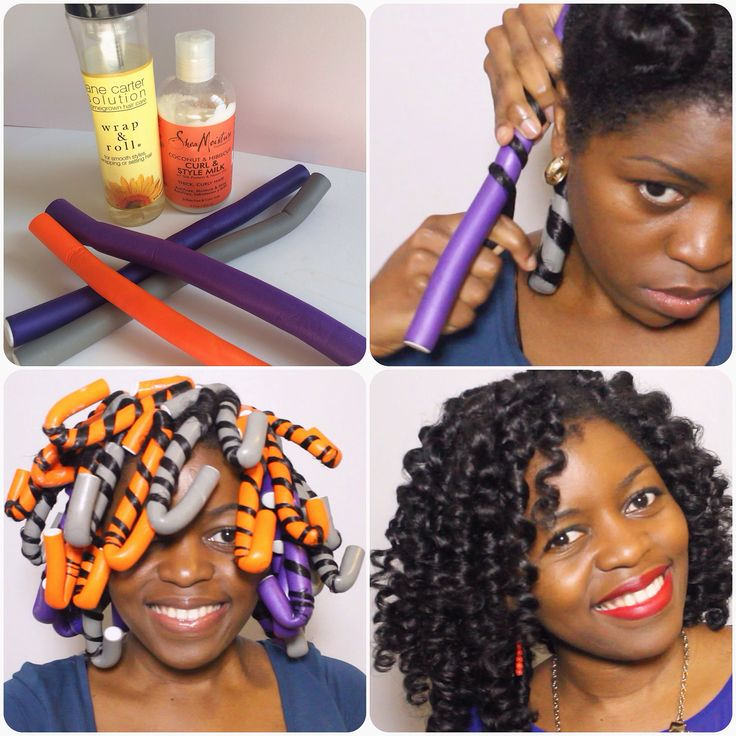 How To Use Flexi Rods On Natural Black Hair