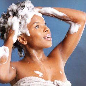 Black-woman-shampooing-her-hair