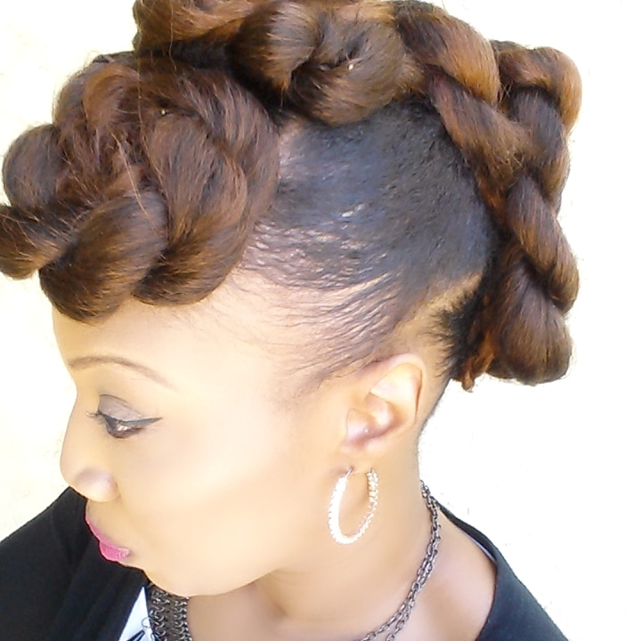 Freestyle Mohawk Updo Black Hair Information