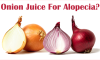 Onion juice for alopecia