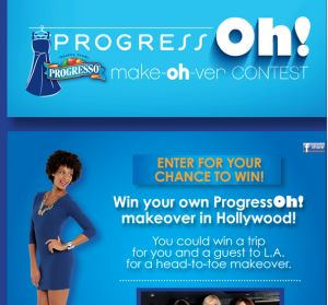 Progresso contest featuring model with naturalhair