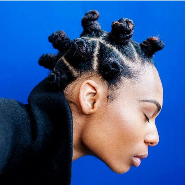 Bantu Knots Are Seriously One OF The Best Black Girl - Faux Locs Hairstyles