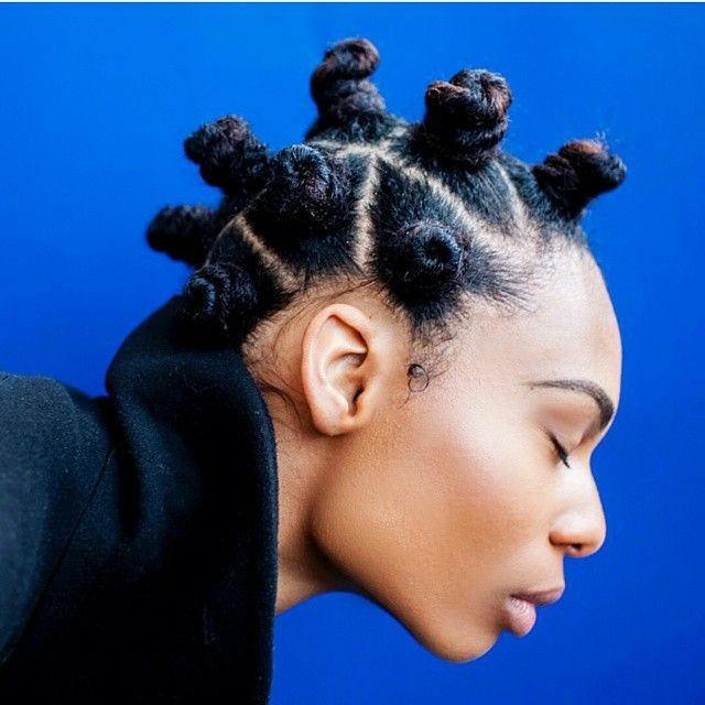 basket weave hairstyle : bantu knot styles