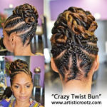 Need A Cute Protective Style? – 18 Flat Twist Updo Styles You Should Try [Gallery]