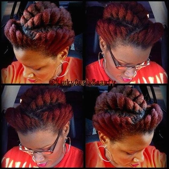 Need A Cute Protective Style 18 Flat Twist Updo Styles