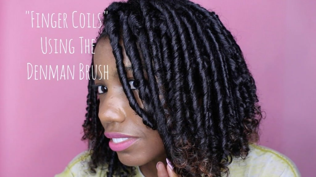 Hair Hack Finger Coils With A Denman Brush Must Watch