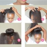 Hair bun protective style for natural hair @mosaiccreations