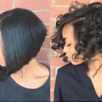 Curly And Straight Perfection @hairbychantellen… Which Do You Prefer?