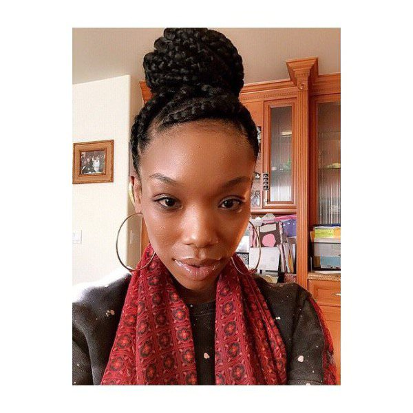 Loving This Braided Bun On Brandy Black Hair Information