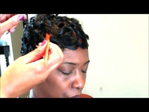 Easy Pincurl Soft Fingerwave Short Hair Full Tutorial Video Black Information