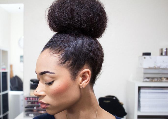 Big-Textured-High-Bun-Afro-Hair